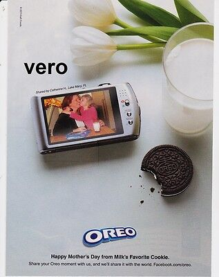 Kraft Foods OREO 2011 magazine ad print cookies clipping advertisement camera