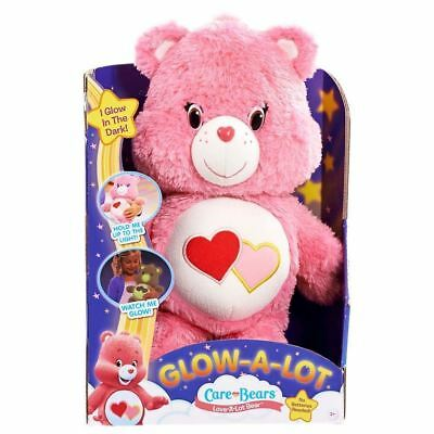 Care Bears Glow-A-Lot Bedtime Love-a-Lot Plush Night Light Toys Kids Gift