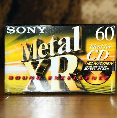 New original metal tape with a blank cassette tape SONY Metal XR 60