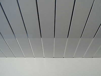 ... 9 White Gloss Bathroom Ceiling Panels With Chrome Strips Pvc Ceiling  Cladding ...