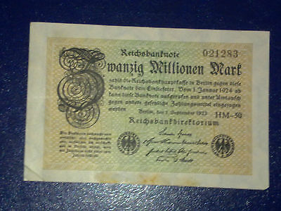 Germany - 20 Million Mark  Banknote 1923- Berlin-Inflation - Very Fine