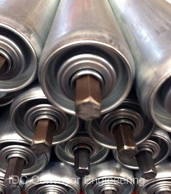 ROLLERS [600mm long] *Bright Zinc Plated. *High Quality. Ideal for CONVEYORS