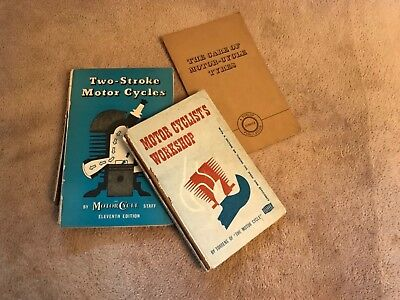 Various vintage motorcycle books