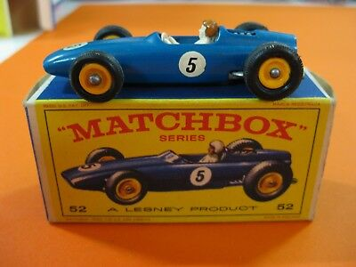 Vintage 60/70´s Matchbox Lesney Nº52 Brm Racing Car-Red Pilot Helmet-Super Rare