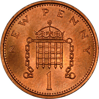 UNCIRCULATED  1p  PENNY  ONE PENNY COIN 1971 - 1981 UNC
