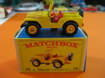 Vintage 60/70´s Matchbox Lesney Nº72 Standard Jeep Bicolor Yellow/orange-Raro