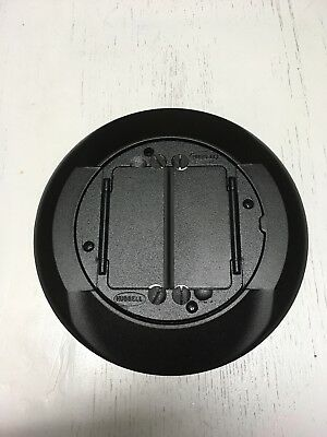 (6) Hubbell S1CFCBL Universal Carpet Flange Cover Assembly BLACK, metal, new