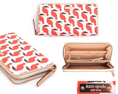 New Kate Spade South Poplar Street Lacey Wallet in Toucan Multi
