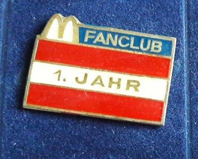 Original Mcdonald Mc donald MCD PIN Badge - Mc Donald Fahne 1 Jahr Fanclub
