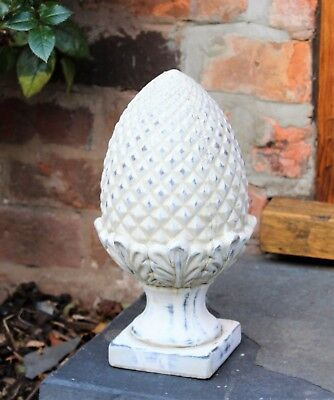 Outdoor Indoor Garden Ornament Stone Acorn Pineapple Finials Decorative Stone