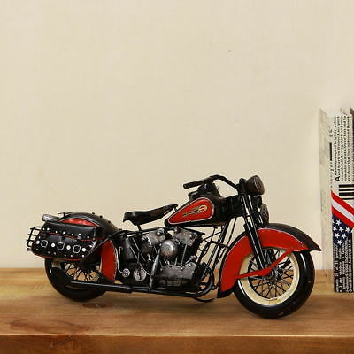 Hand Made Tin Metal 1948 FL  Harley Davidson Motorcycle Model Antiqued Decoratio