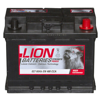 Type 027 Car Battery 480CCA Lion Batteries 12V 60Ah Sealed 3 Years Warranty