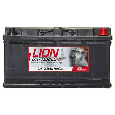 6002157 019 Car Battery 3 Years Warranty 95Ah 750cca 12V Electrical By Lion