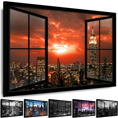 wandbilder xxl new york skyline stadt leinwandbild bild wohnzimmer d b 0188 b n eur 19 99. Black Bedroom Furniture Sets. Home Design Ideas