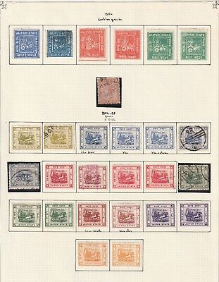 India Jaipur State 1904 vf quality collection on 3 pages