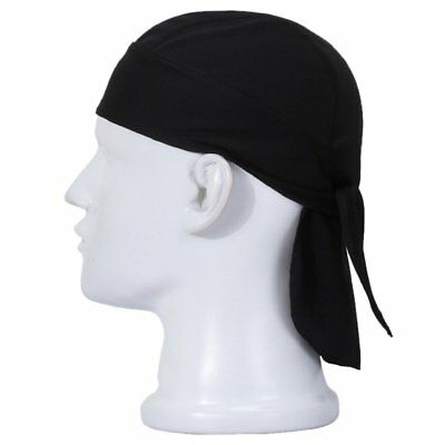 Men's Durag Bandanna Sports Du-Rag Scarf Head Rap Tie Down Band Biker's Cap B3
