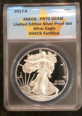 2017 S Pr70 Silver Proof Eagle From  Limited Edition Silver Set