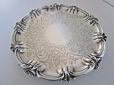 Victorian Silver Plated Salver / Card Tray..Circa 1850 - 1873..