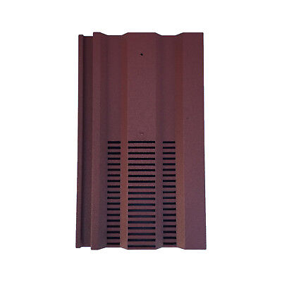 Roof Tile Vent To Fit Redland 49, Marley Ludlow Plus | Red Granular | 14 Colours
