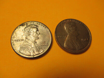 2006-P Lincoln Memorial Penny Cent 1C - Mint Error? Missing Copper Plating Layer