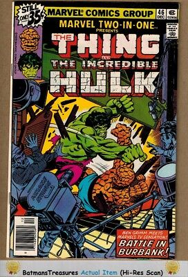 Marvel Two-In-One #46 (8.5) VF+ Incredible Hulk vs Thing 1978 Key Issue