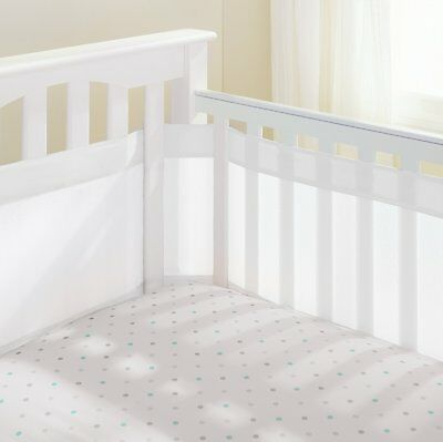 Air Flow Baby Mesh Crib Liner White Excellent Condition