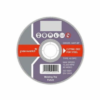 "(PACK OF 10) Parweld (4.5"") 115mm x 1mm Thin stainless steel metal cutting discs"