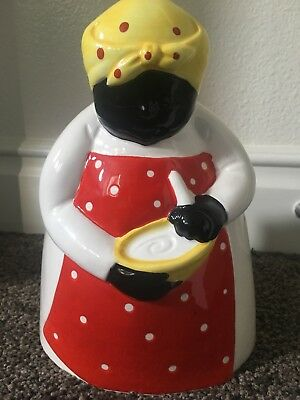 Aunt Jemima Dept 56 Kitchen Utensil Holder, Someone's In The Kitchen, Excellent!