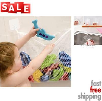 Bath Toy Organizer with 2 Super Strong Adhesive Hooks Bathtub Toys Storage Net