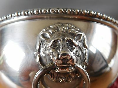 """6.5"""" English Best Silver Plate Tureen with Lion handles"""
