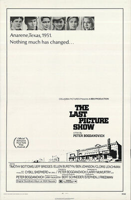 The Last Picture Show 1971 27x41 Orig Movie Poster FFF-64161 Fine, Very Good