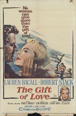 The Gift of Love 1958 27x41 Orig Movie Poster FFF-64229 Lauren Bacall