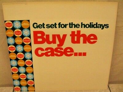 """VINTAGE NOS 1960s SCHAEFER BEER SIGN """"BUY THE CASE"""" CHRISTMAS HOLIDAY PROMO SIGN"""