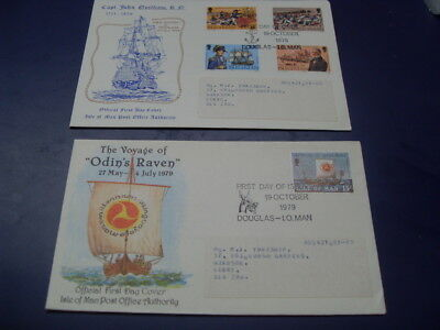 Isle Of Man First Day Cover's -John Quilliam 1979 / Odin's Raven 1979