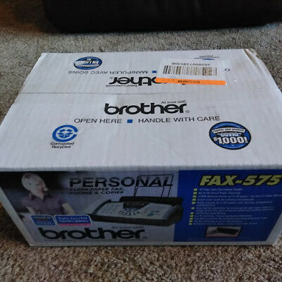 NEW BROTHER FAX-575 Personal Plain Paper Fax Phone & Copier, FAST shipping!