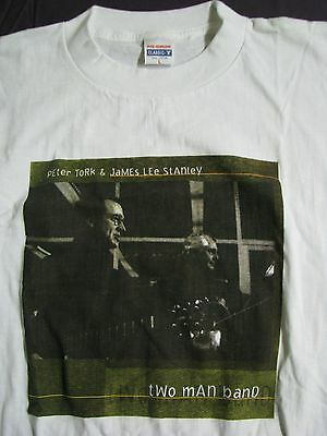 T-SHIRT Peter Tork / James Lee Stanley 1998 ( Monkees ) autographed