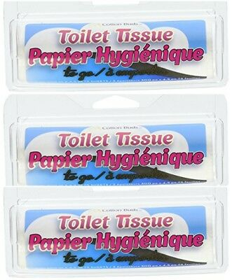 NEW - (3 pack) Cotton Buds Toilet Tissue To Go - FREE SHIPPING