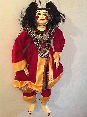 Myanmar clown doll marionette - hand made puppet