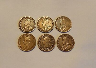 Canadian Large Cents Lot of 6