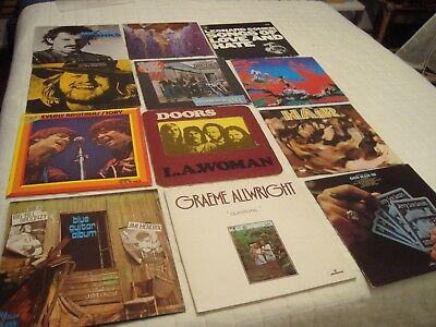 Lot Pop Rock Folk De 12 Lp 33 Tours !!!