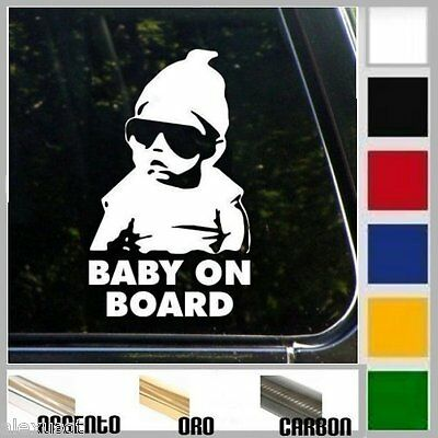 adesivo sticker BABY ON BOARD bimbo bebè a bordo personalizzabile, prespaziato