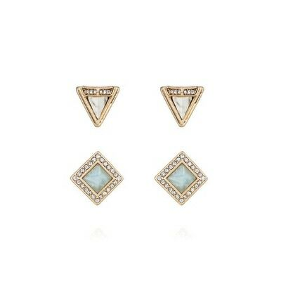 Chloe and Isabel Portico Stud Duo Earrings E328 - New -
