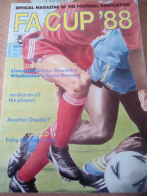 Wimbledon fc v Liverpool 1988 FA Cup Final Rare Offical FA Magazine