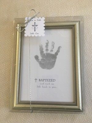 The Grandparent Gift Co. Growing in Faith Handprint Frame Baby Dedication