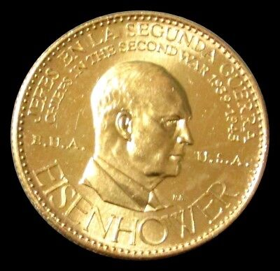 1957 Gold Eisenhower Usa Chief Of Ww Ii 22.2 Grams Coin Choice Mint State