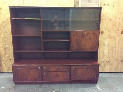 Wall Display Cabinet with Cupboards - Stylish Quality Mahogany Furniture