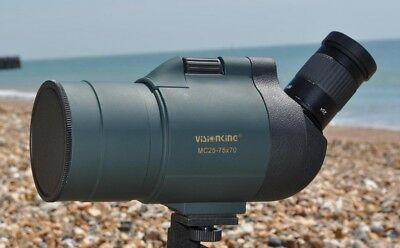 Visionking Spotting scope with 25-75x 70 zoom eyepiece, New gift for you !