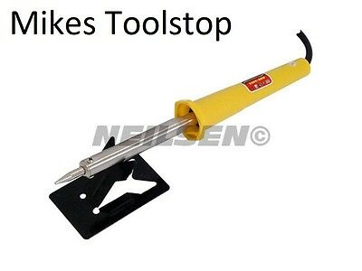 Electric Soldering Iron 230V/60W Long Reach Tip Rest Plate Hobby Craft Mechanic
