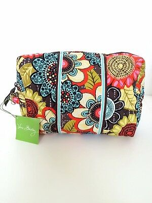 NWT Vera Bradley Travel LARGE Cosmetic Bag In Flower Shower
