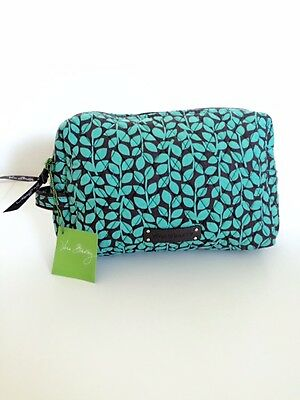 NWT Vera Bradley Travel LARGE Cosmetic Bag In Shower Vines
